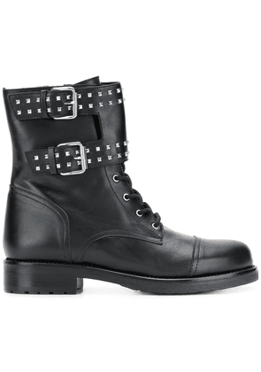 Albano buckle detail ankle boots - Black