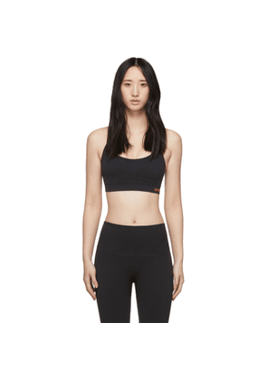 Reebok By Victoria Beckham Black Textured Seamless Sports Bra