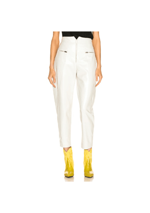 Isabel Marant Cyril Leather Pant in White