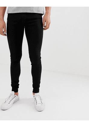 Jack & Jones spray on skinny fit jeans in black