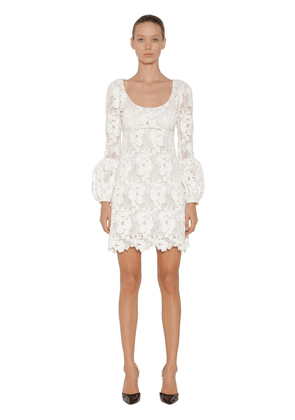 Cotton Blend Lace Dress