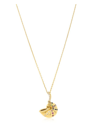 Nautile Mini Charms 18kt Gold Necklace
