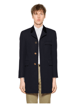 Chesterfield Melton Wool Coat