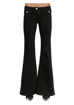 Flared Cotton Denim Pants