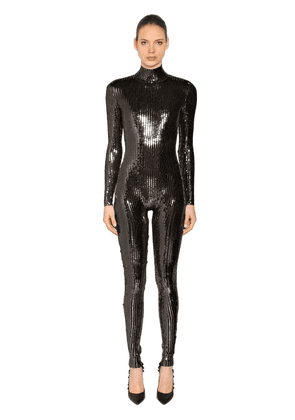 Sequined Stretch Jumpsuit