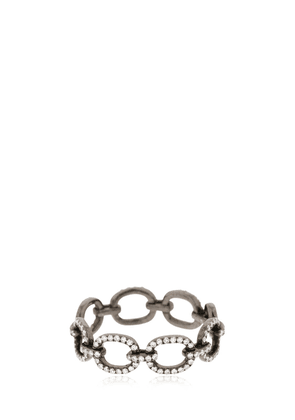 Diamond Chain Link 14kt Black Gold Ring