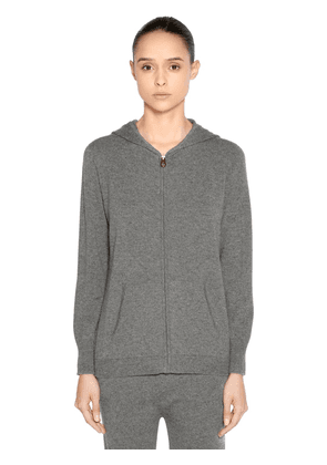 Hooded Zip-up Cashmere Sweater