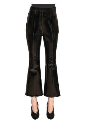 Vinyl & Neoprene Cropped Pants