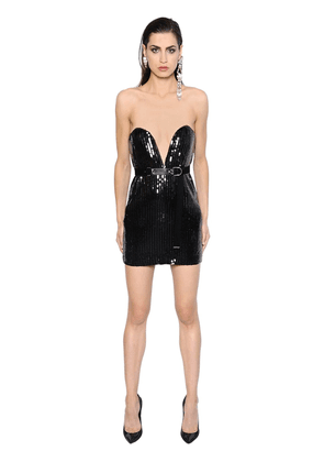 Sequined Bustier Mini Dress