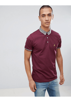 Brave Soul Striped Collar Polo Shirt