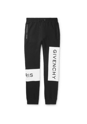 Givenchy - Tapered Logo-print Loopback Cotton-jersey Sweatpants - Black