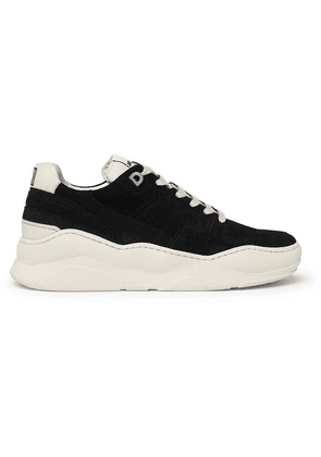 AMI - Leather-trimmed Suede Sneakers - Black