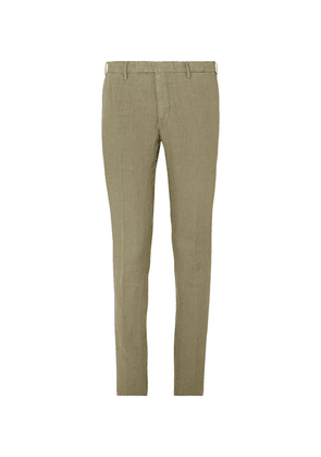 Boglioli - Slim-fit Tapered Olive Linen Suit Trousers - Green