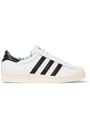 adidas Consortium - + Have A Good Time Superstar Leather Sneakers - White