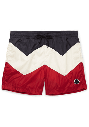 Moncler - Mid-length Colour-block Swim Shorts - Multi