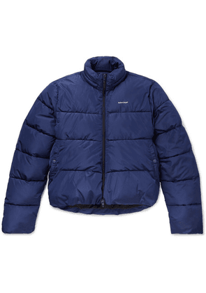 Balenciaga - Oversized Quilted Shell Hooded Jacket - Blue