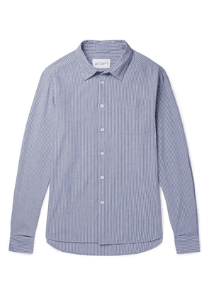 Albam - Striped Cotton Oxford Shirt - Blue