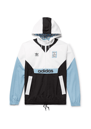 adidas Consortium - + Have A Good Time Logo-embroidered Colour-block Nylon Hooded Jacket - Blue