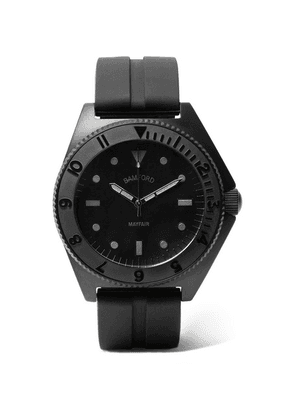 Bamford Watch Department - Mayfair Stainless Steel And Rubber Watch - Black