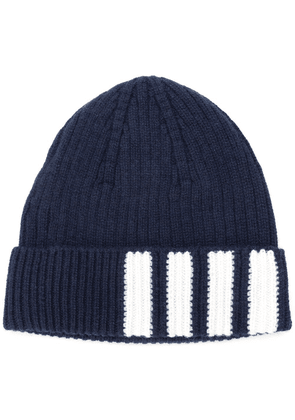Thom Browne 4-Bar Stripe Cashmere Rib Hat - Blue 895bfe44d65d