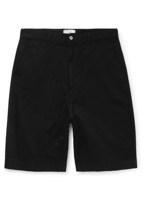 AMI - Wide-leg Denim Shorts - Black