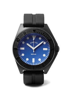 Bamford Watch Department - Mayfair Stainless Steel And Rubber Watch - Blue