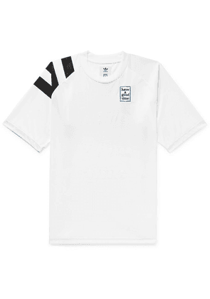 adidas Consortium - + Have A Good Time Logo-embroidered Debossed Tech-jersey T-shirt - White