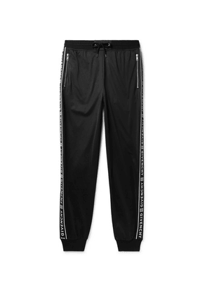 Givenchy - Tapered Logo-jacquard Fleece-lined Tech-jersey Sweatpants - Black