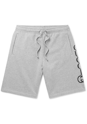 Gucci - Logo-print Loopback Cotton-jersey Shorts - Gray