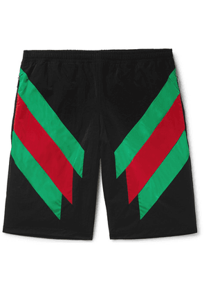 Gucci - Colour-block Shell Shorts - Black