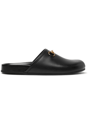 Gucci - Horsebit Leather Sandals - Black