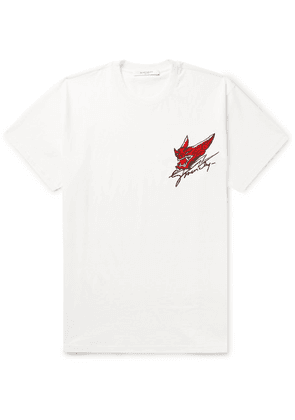 Givenchy - Oversized Embroidered Cotton-jersey T-shirt - Off-white
