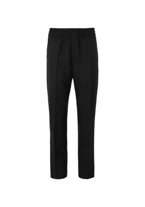 Givenchy - Black Logo-embroidered Wool-twill Trousers - Black
