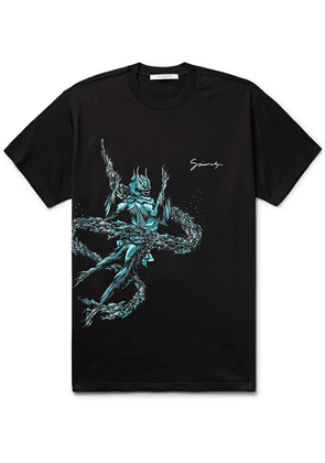Givenchy - Pisces Printed Cotton-jersey T-shirt - Black