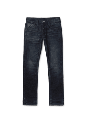 Fabric-Brand & Co - Doran Slim-fit Selvedge Denim Jeans - Blue