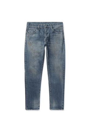 Fabric-Brand & Co - Rake Slim-fit Distressed Denim Jeans - Blue