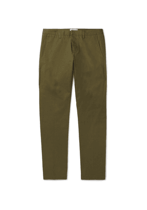 AMI - Slim-fit Cotton-twill Chinos - Army green