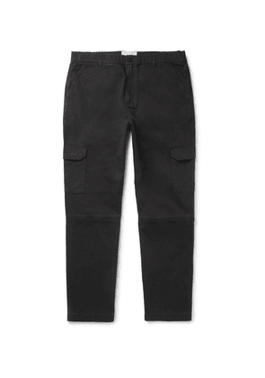 Folk - Ripstop-panelled Cotton-twill Cargo Trousers - Charcoal
