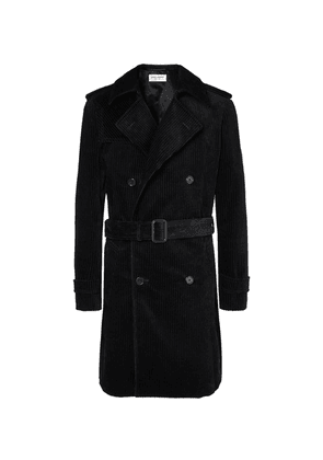 Saint Laurent - Cotton-corduroy Trench Coat - Black