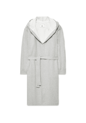 afeb8e3c59 ... Cotton-jersey Hooded Robe - Gray. Reigning Champ