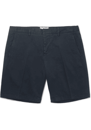AMI - Stretch-cotton Twill Chino Shorts - Navy