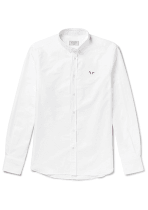 Maison Kitsuné - Slim-fit Button-down Collar Logo-appliquéd Cotton Oxford Shirt - White