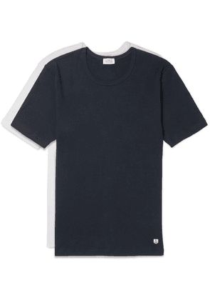 Armor Lux - Two-pack Slim-fit Cotton-jersey T-shirts - Navy