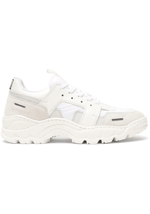 AMI - Lucky 9 Nylon, Leather And Suede Sneakers - White