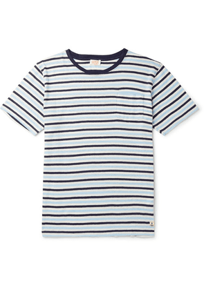 Armor Lux - Héritage Striped Cotton And Linen-blend T-shirt - Navy