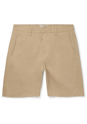 AMI - Slim-fit Cotton-twill Bermuda Shorts - Beige