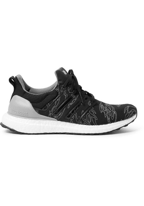 adidas Consortium - + Undefeated Ultraboost Rubber-trimmed Primeknit Sneakers - Gray