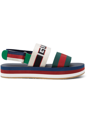 Gucci - Webbing-trimmed Rubber Sandals - Multi