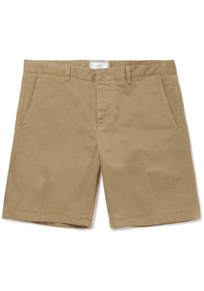 AMI - Stretch-cotton Twill Chino Shorts - Tan