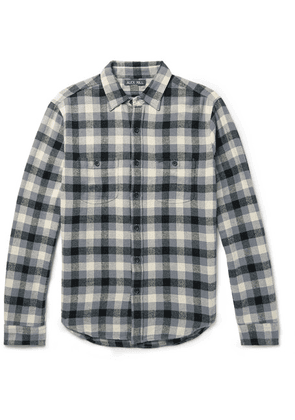 Alex Mill - Checked Cotton-flannel Overshirt - Anthracite